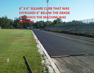 Extruded Curb Below Grade
