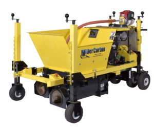 extruded concrete curb machine