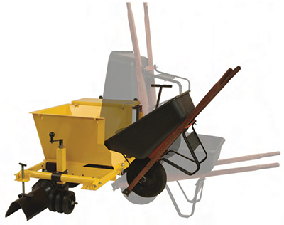 wheelbarrow hopper